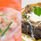 Recetas para chuparse los dedos: cóctel de langostinos y tartar de ternera