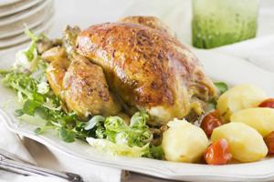 Receta de Pollo Asado con 2 cocciones