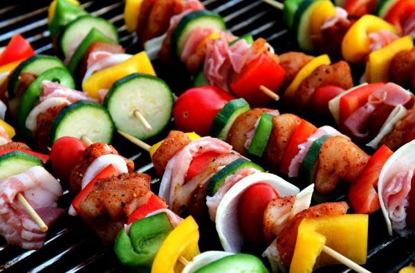 Receta de pinchos de longaniza y verduras