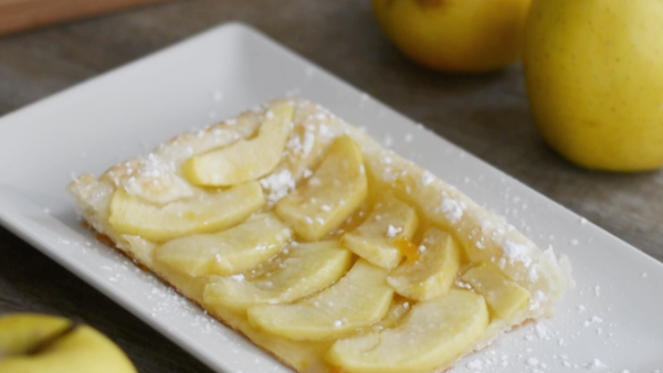 Receta de hojaldre de manzana