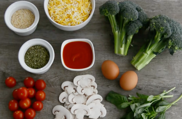 Pizza saludable con masa de brócoli