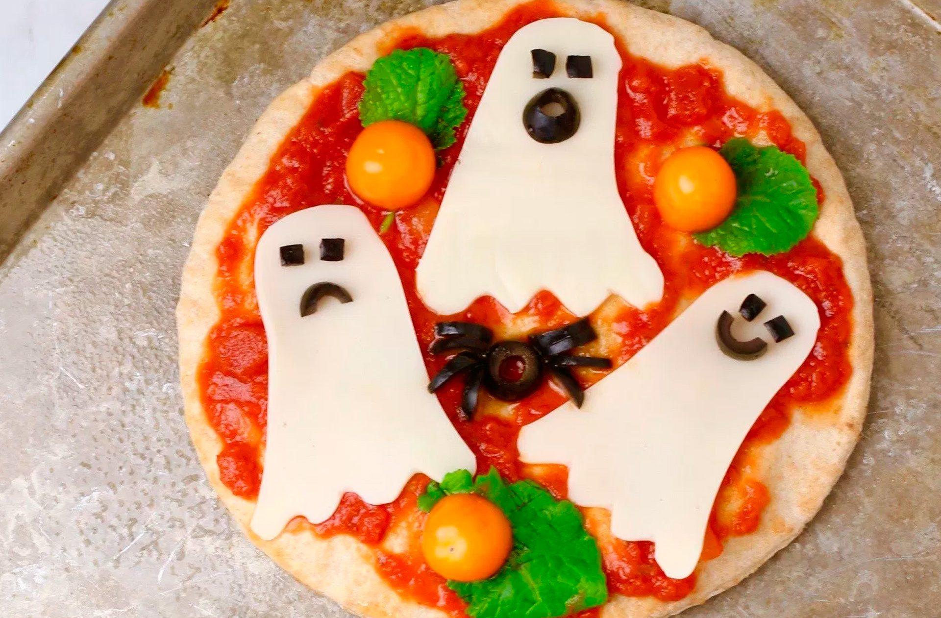 Receta de pizza para Halloween